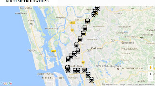 Kochi Metro Stations and Fare Details