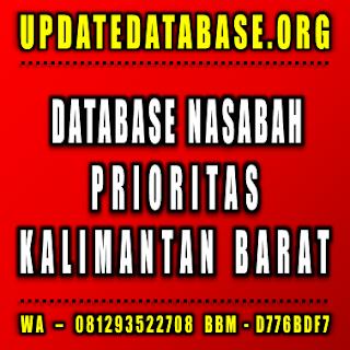 Jual Database Nasabah Kalimantan Barat