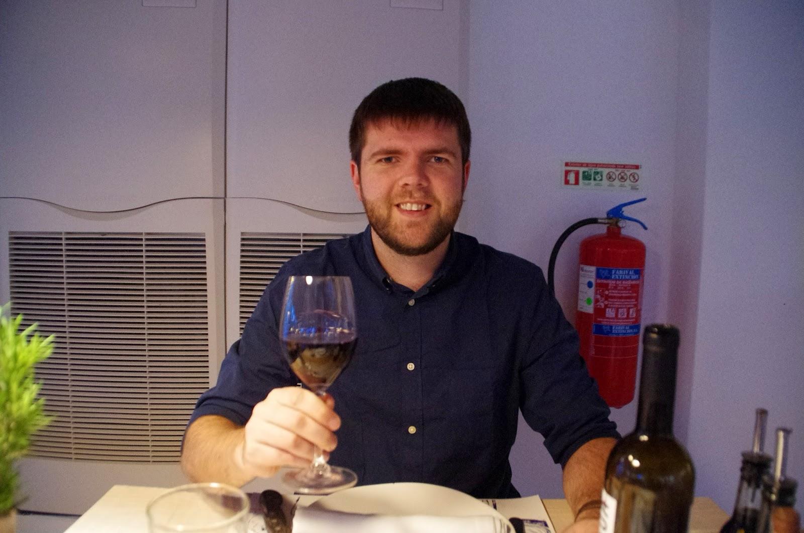 Dan at À Terra Restaurant Vila Monte Portugal