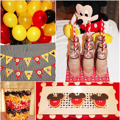 A Retro Mickey Inspired Birthday Party