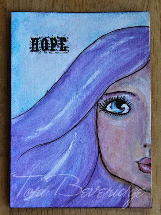Hope Half Face by Tori Beveridge 2014