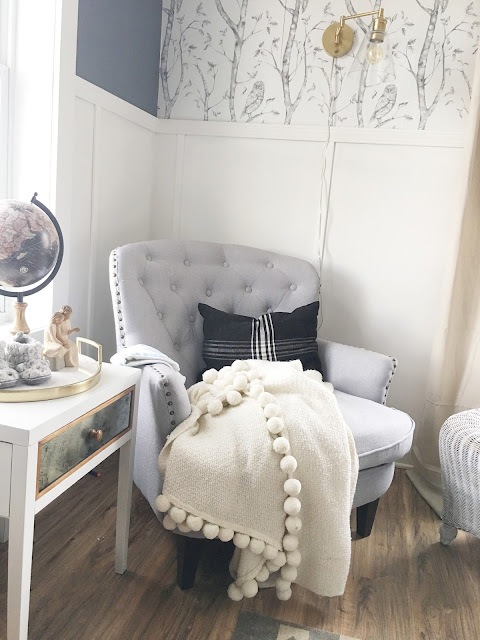 white gold and gray nursery