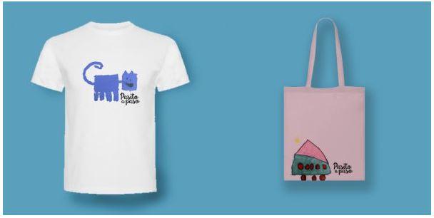 Camiseta y bolsa proyecto solidario Pequeños kreadores