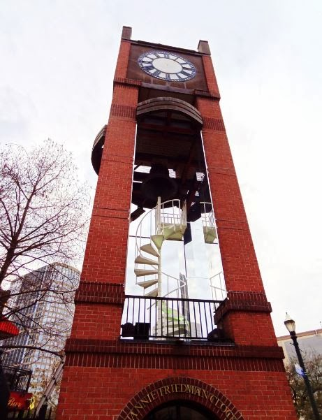 Clock Tower on the edge of Market Square Park - Travis at Congress Street