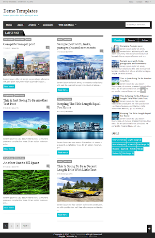 Extra News Turquoise Blogger Template