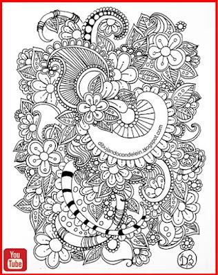dibujo par principiantes, clases gratis de dibujo, youtube, video tutorial, como dibujar zentangle art, delein padilla, dibujando con delein, como dibujar un mandala, tutorial de dibujo, video tutorial, dibujo fácil, dibujo facil, manualidades, garabato zentangle