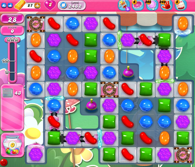 Candy Crush Saga level 2482