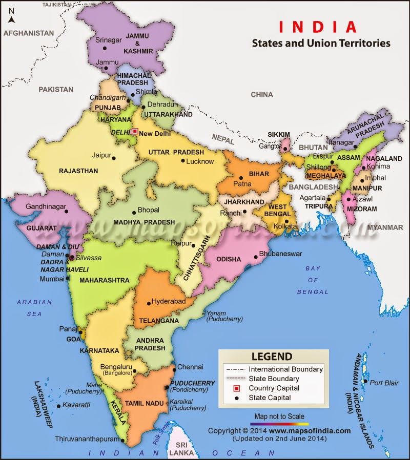 INQUISITIVE LEARNERS: MAP OF INDIA 29 STATES