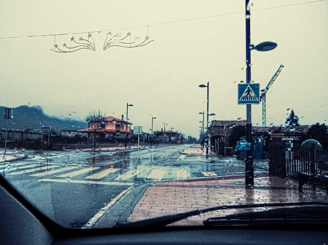 Día de lluvia en Tierrantona