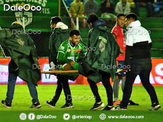 Danny Bejarano es retirado en camilla en el partido de Oriente Petrolero vs Wilstermann - DaleOoo
