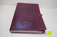 Erfahrungsbericht: Creoly handgemachtes 'Day Of The Dead' Journal aus geprägtem Leder (15cm x 20cm)