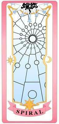 Spiral clear card
