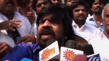 T Rajendar furious on Vishal