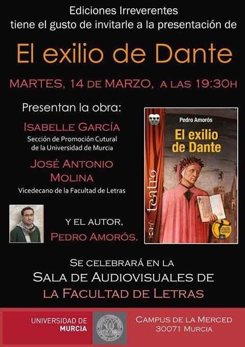 """Presentación del libro """"El exilio de Dante""""."""