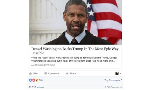 Is this True? Denzel Washington praised US President-elect Donald Trump