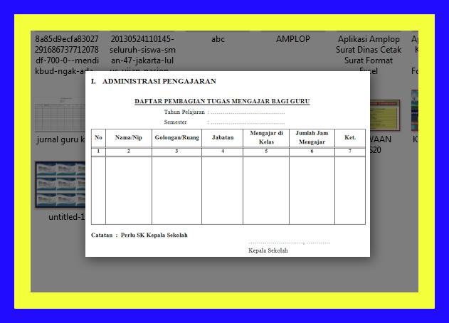 Aplikasi Format Administrasi Kepala Sekolah Lengkap Sesuai Pedoman