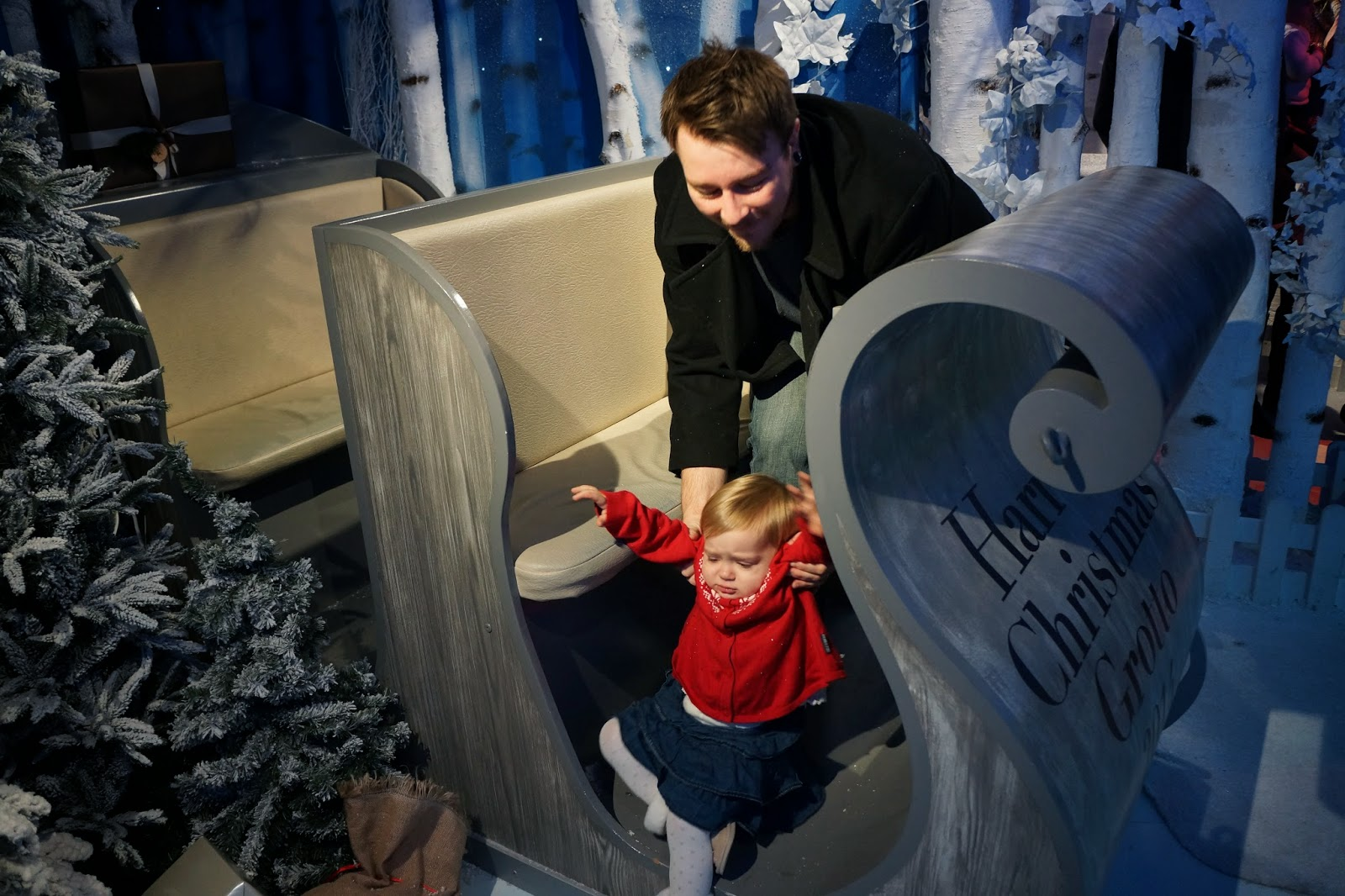 harrods christmas santa's grotto 2014 sleigh