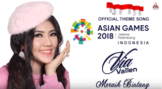 Via Vallen, Dangdut, Pop, 2018,Asian Games, Asian Games 2018, Theme Song, Download Lagu Via Vallen Meraih Bintang Mp3 (Theme Song Asian Games 2018)