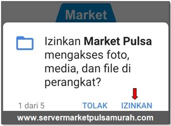 Izinkan Market Pulsa untuk mengakses foto, media, dan file di perangkat