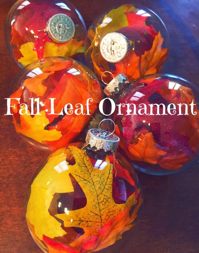 Fall leaf ornament to decorate a Thanksgiving tree