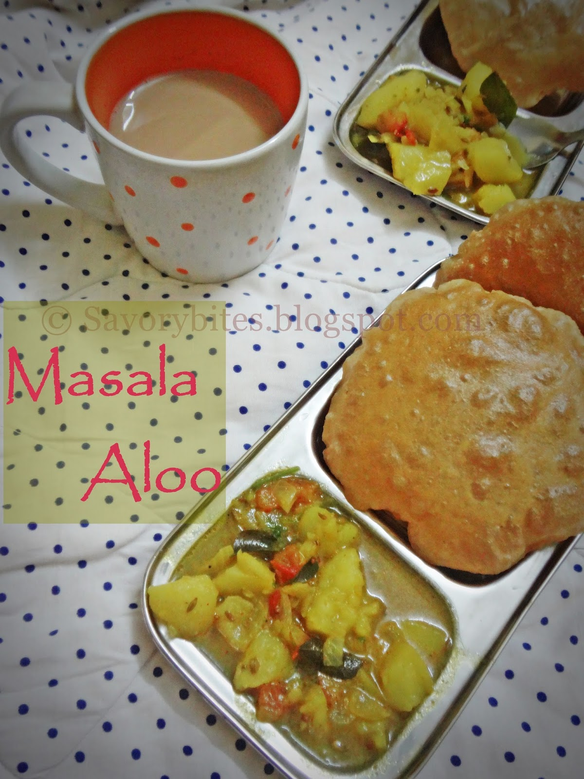 Aloo Puri Masala Breakfast Indian