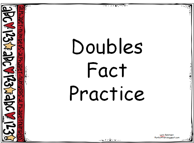 Fun For First Adding 1 And Doubles Fact Practice Powerpoints