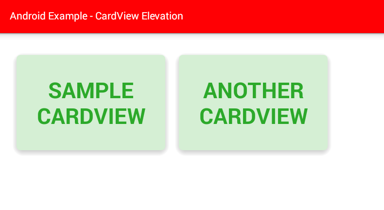 android - How to set CardView elevation