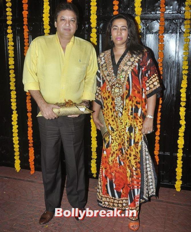 Shashi and Anu Rajan, Ekta Kapoor's Diwali bash 2013