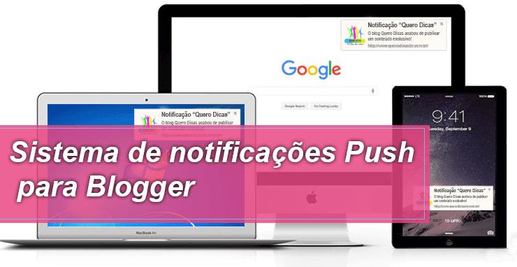 caixa de notificações para Blogger