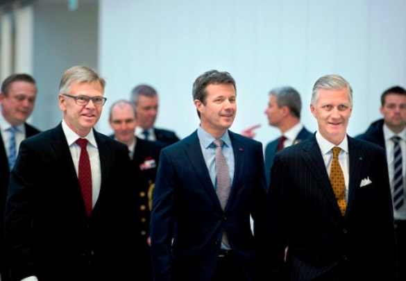 Crown Prince Frederik and King Philippe of Belgium visit The Confederation of Danish Industry