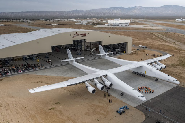 Stratolaunch largest plane rollout
