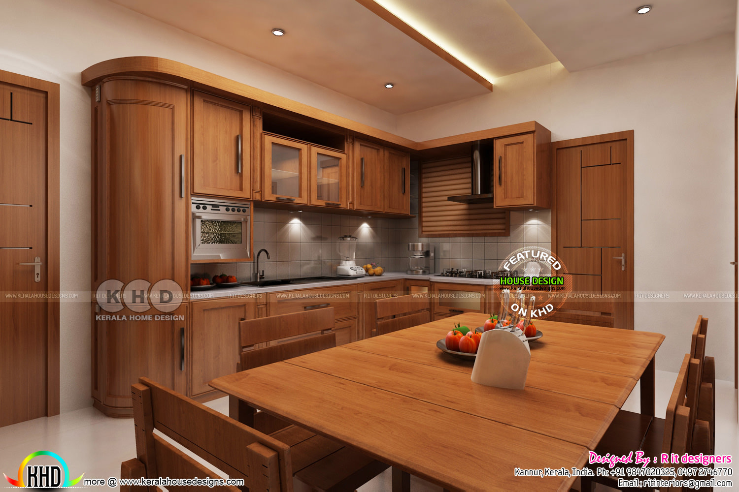 Home Kitchen Interior Design Dining Kitchen Interior Designs Kerala Home Design And