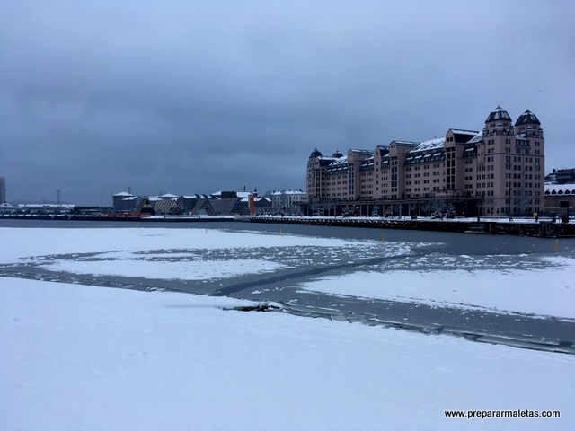 fiordo congelado en Oslo
