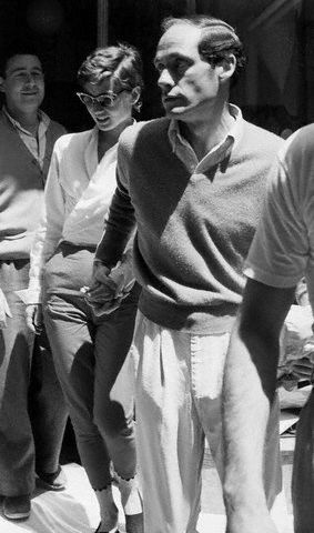Audrey Hepburn and Mel Ferrer in Capri