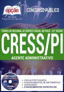 Apostila CRESSPI - Concurso do Conselho Regional de Serviço Social do Piauí, para agente administrativo