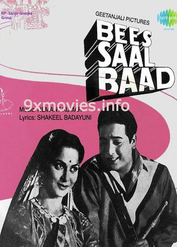Bees Saal Baad 1962 Hindi 480p DVDRip 400mb
