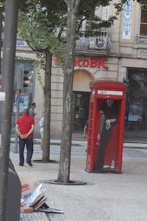 Berriblue Street Art Graffiti Death Grim Reaper Phone Box Porto Portugal