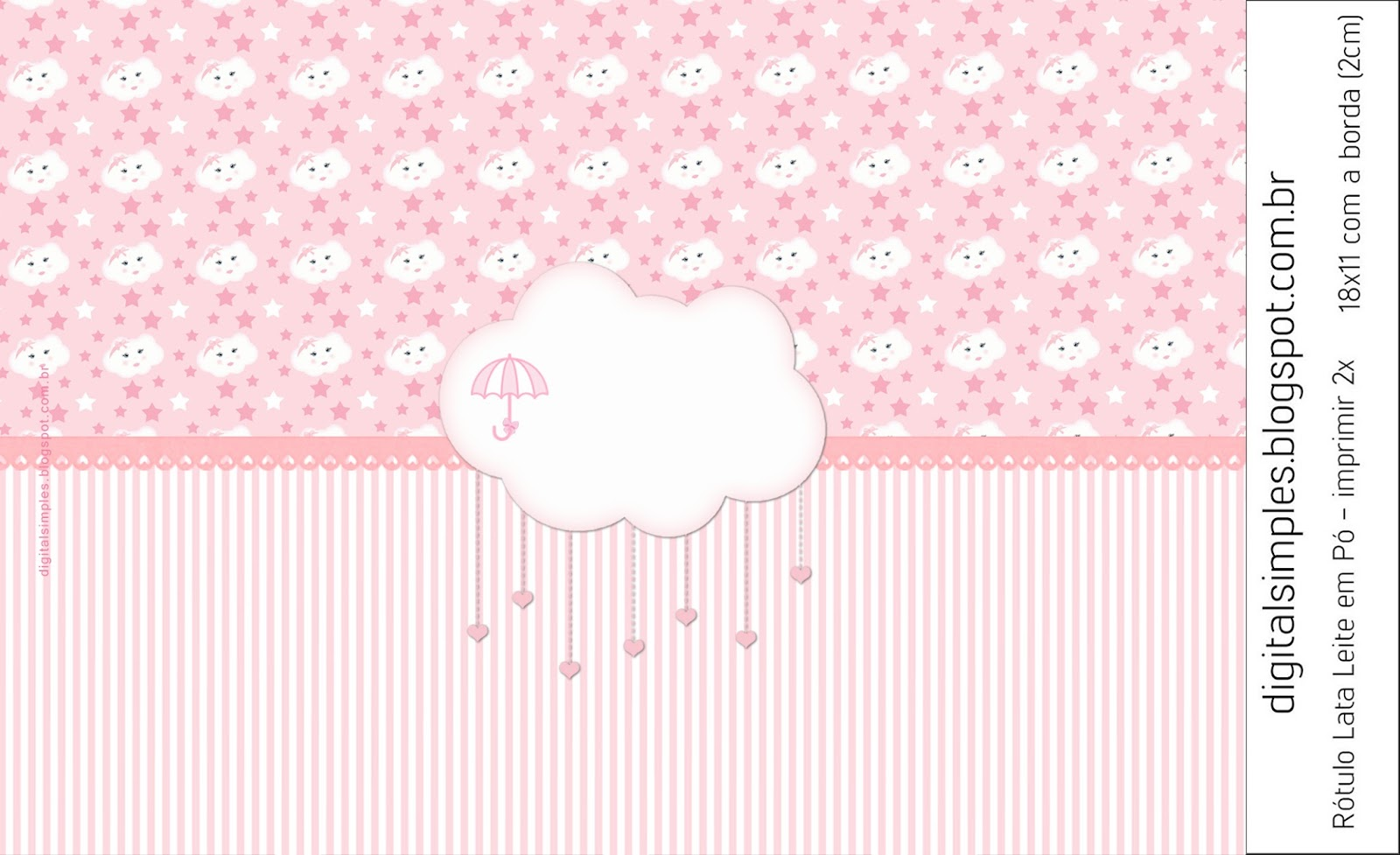 Pink Rain Of Blessings Or Rain Of Love Free Printable Candy Bar