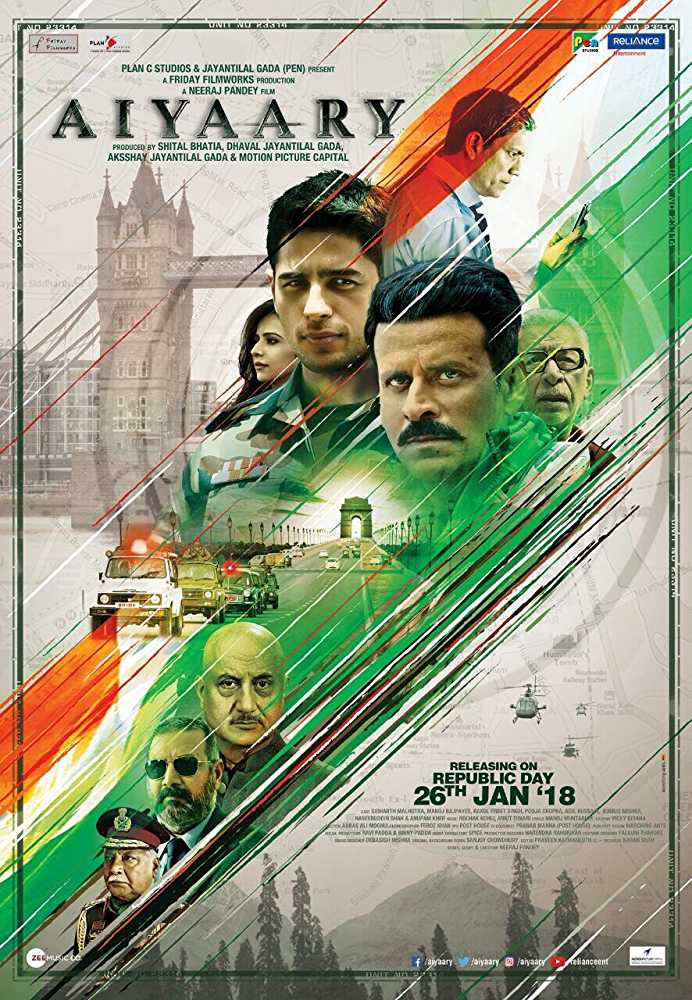 Poster Aiyaary 2018 Full Movie Free Download Hindi 300Mb