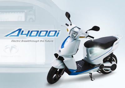 Terra A4000i Electric Scooter side front view image