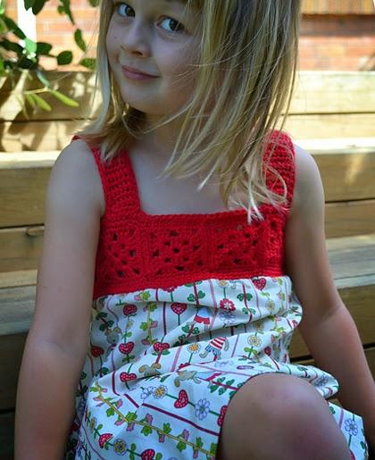 Beautiful Red Dress - Free Crochet Pattern
