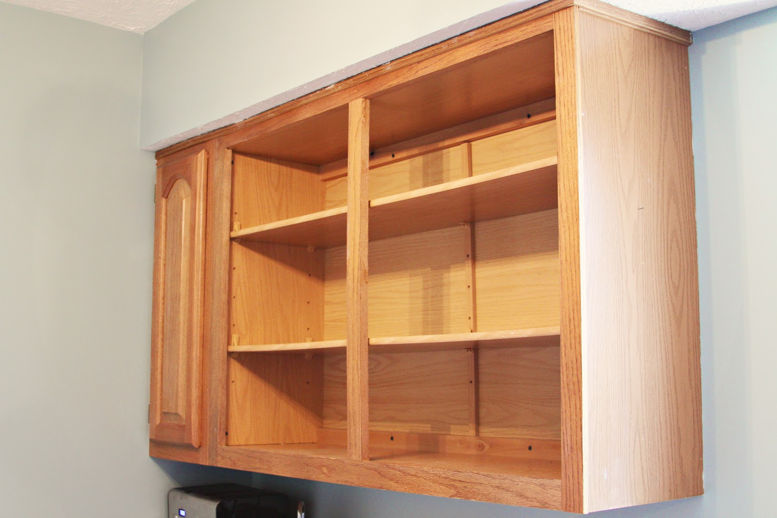Kitchen Cabinet Shelves Honey Oak Cabinets Casa De Luna Creations Open Shelving