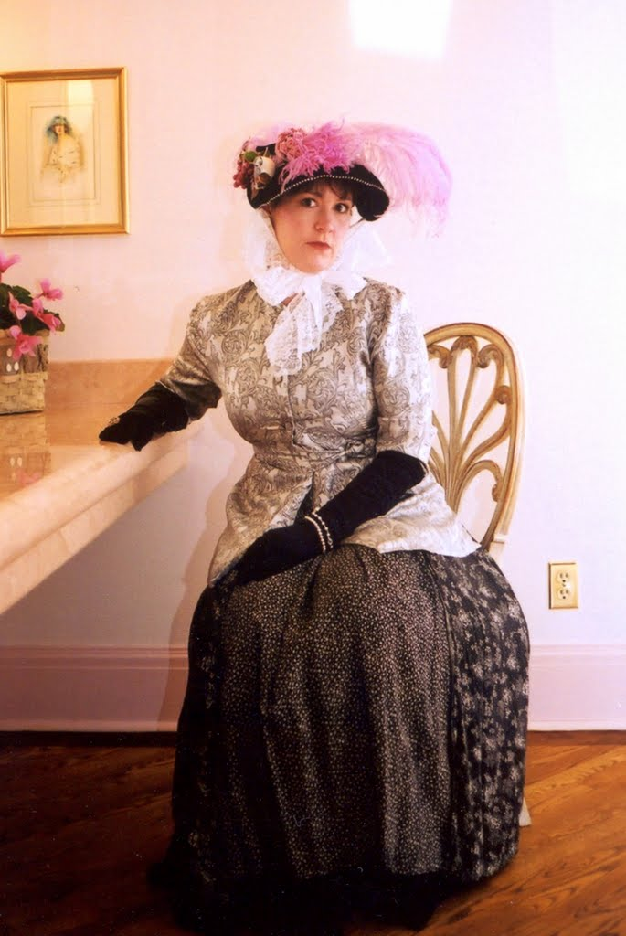 Holly in Victorian wear for the Rideau Hall Skating party