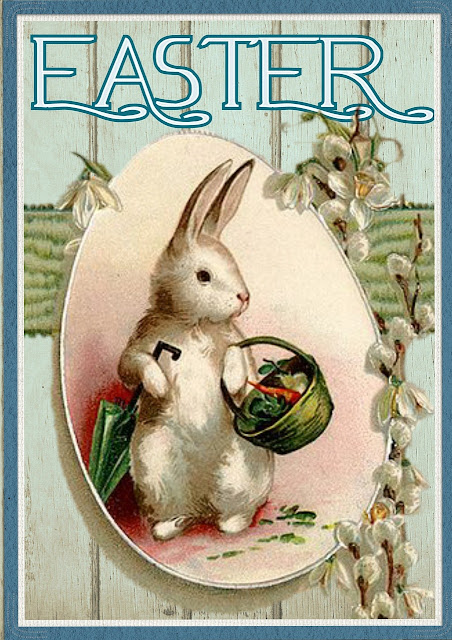 easter bunny greetings cards