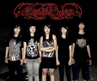 Monster Phobia Band Female Metalcore Surabaya Foto Personil Logo Fonts Artwork Wallpaper