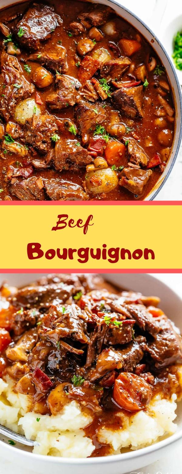 Beef Bourguignon #BEEF #SLOWCOOKER  #DINNER