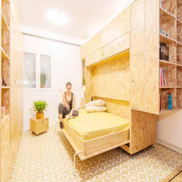 giường thông minh cho căn hộ nhỏ 30 mét vuông