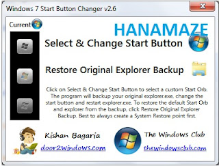 Win7startbutton, hanamaze