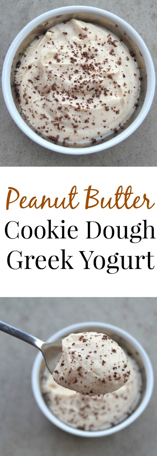 Peanut Butter Cookie Dough Greek Yogurt- takes 2 minutes to make, tastes like dessert and is healthy! www.nutritionistreviews.com