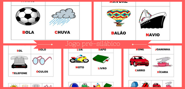 Jogo pré-silábico pronto para imprimir - bingo